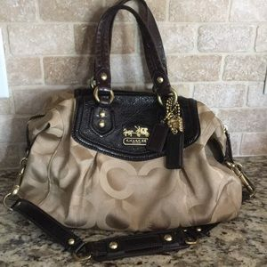 Coach Signature CCs brown satchel/bag/purse